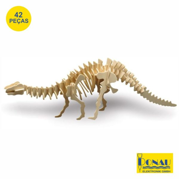 "Kit modelismo madeira ""Brontossauro"""