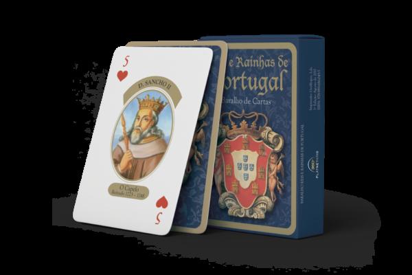 Baralho de cartas «Reis e Rainhas de Portugal»