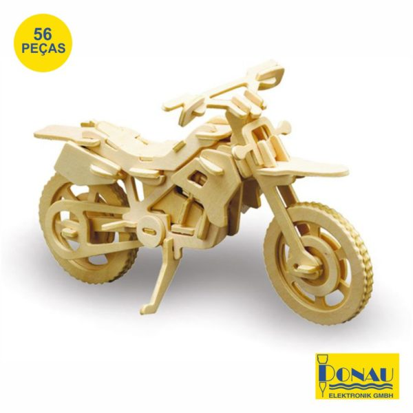 "Kit modelismo madeira ""Mota Cross"""