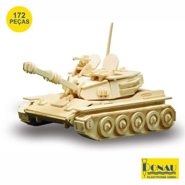 "Kit modelismo madeira ""Tanque Panzer"""