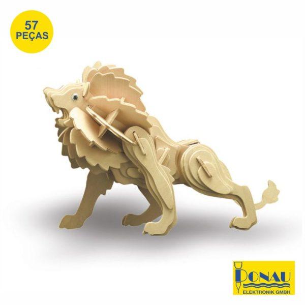 """Kit modelismo madeira """"Leão"""""""