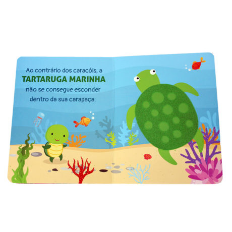 Livros Com Textura - Animais do Oceano