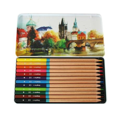 12 Lápis De Aguarelas