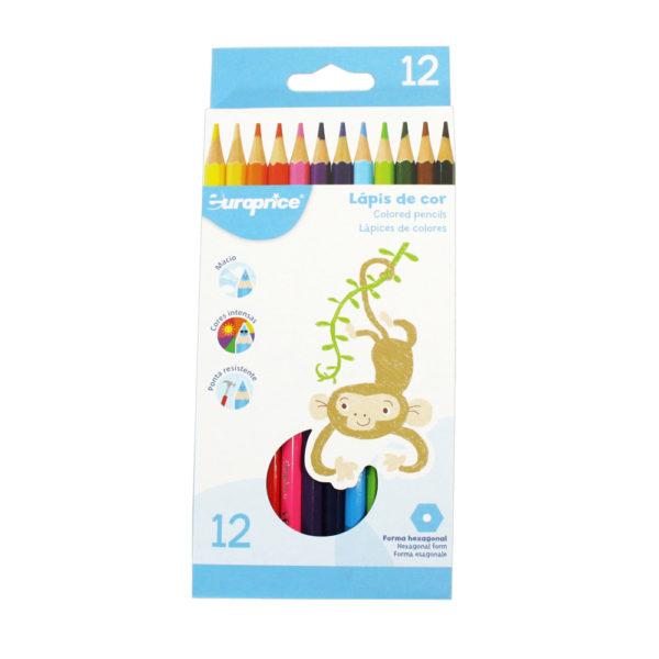 12 Lápis De Cor - Hexagonal