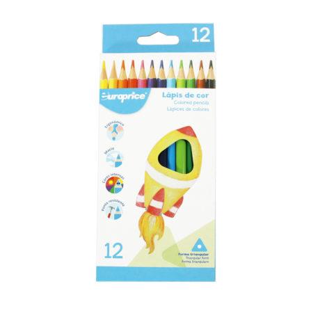 12 Lápis De Cor - Triangulares