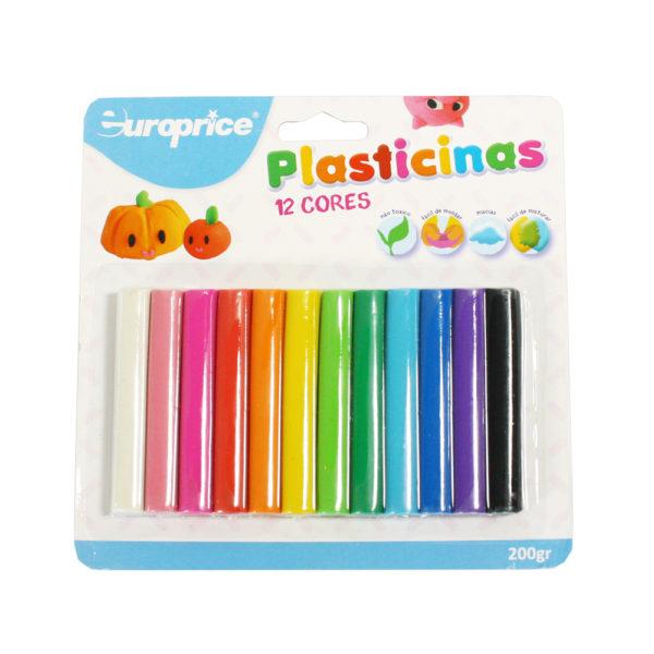 Blister 12 Plasticinas Coloridas