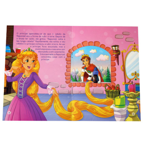 Clássicos Com Puzzle - Rapunzel